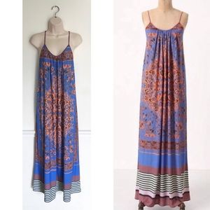 Anthropologie Dream Daily Tile Burst Maxi Dress